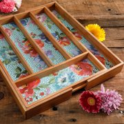 The Pioneer Woman Melody 5-Section Expandable Cutlery Tray