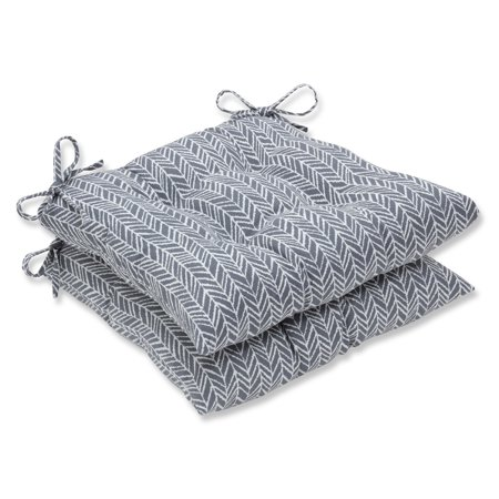 Set of 2 Gray and White Simplistic Nature Chair Cushion 19