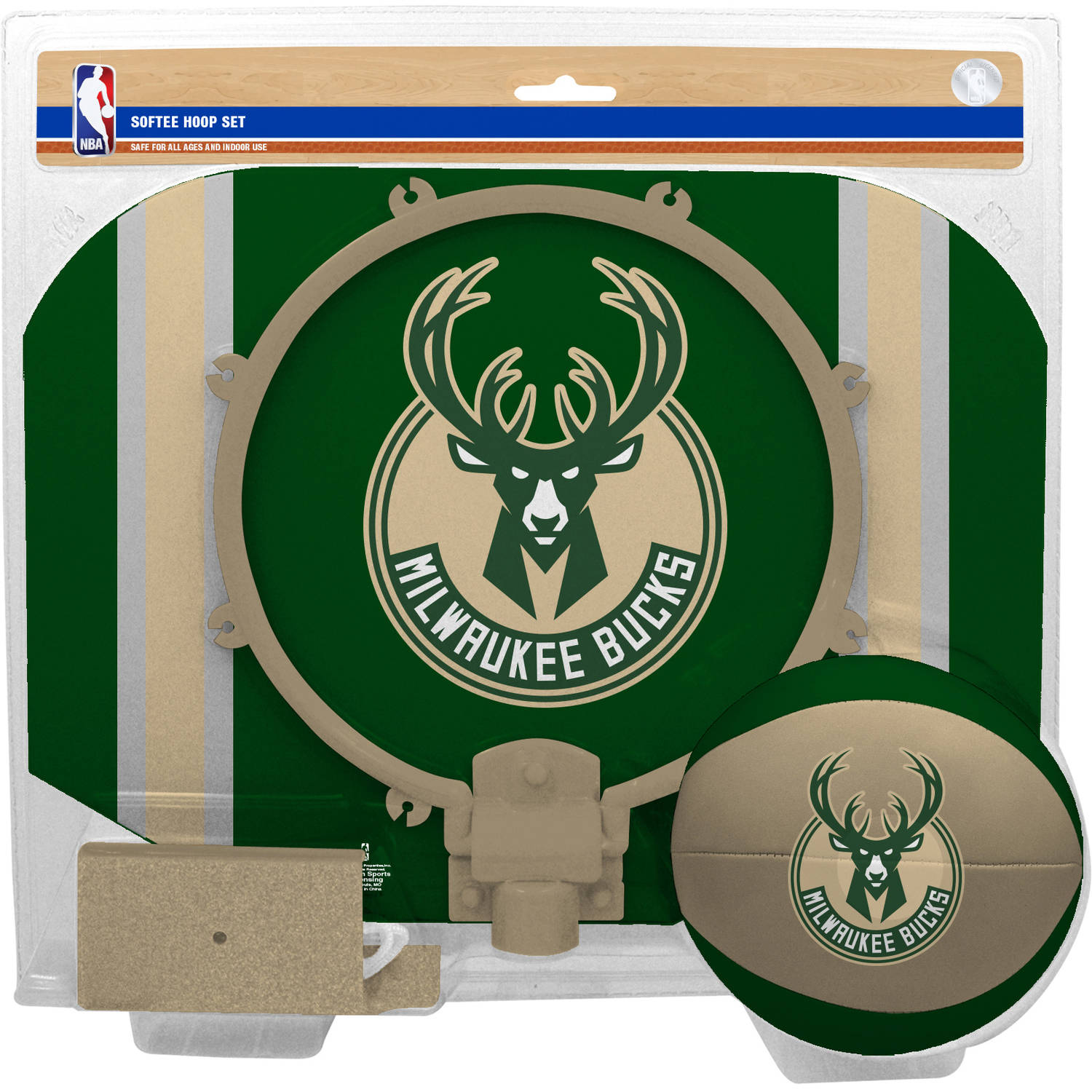 Rawlings NBA Slam Dunk Softee Hoop Set Milwaukee Bucks