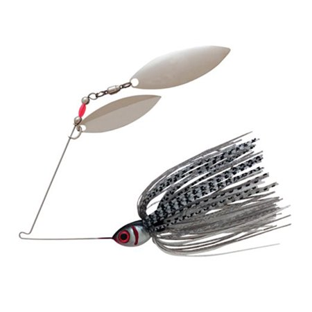 Booyah tandem blade spinner bait silver shad bybt38640 for Walmart fishing spinners