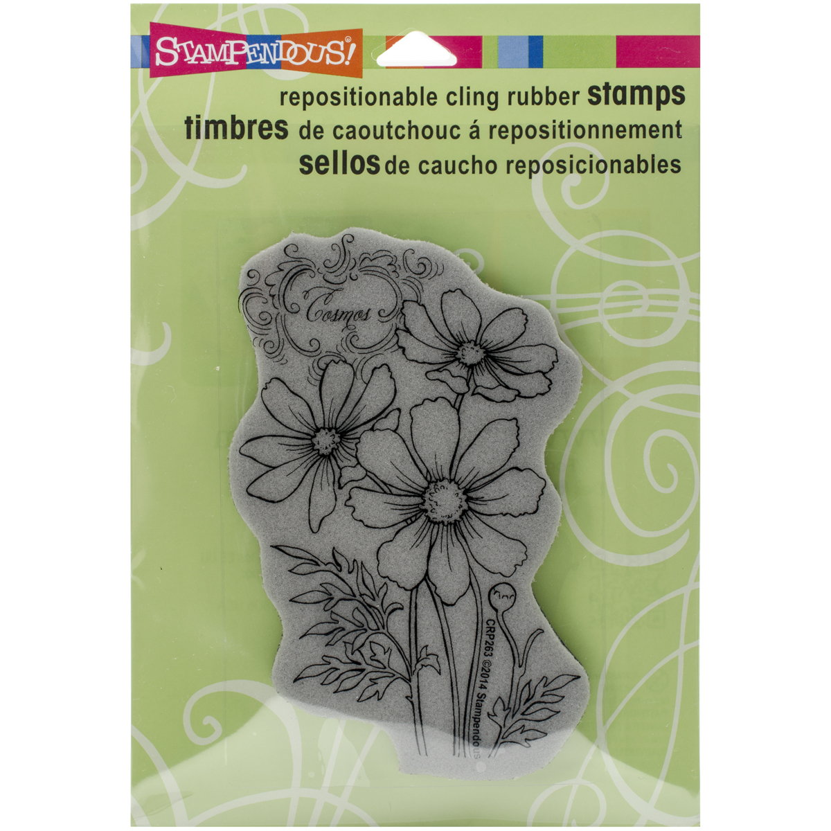 "Stampendous Cling Stamp 4.75""X4.5""-Cosmos Spray"