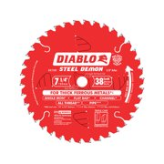 Diablo Steel Demon 7-1/4 in. Dia. x 5/8 in. Carbide Saw Blade 38 teeth 1 pc.