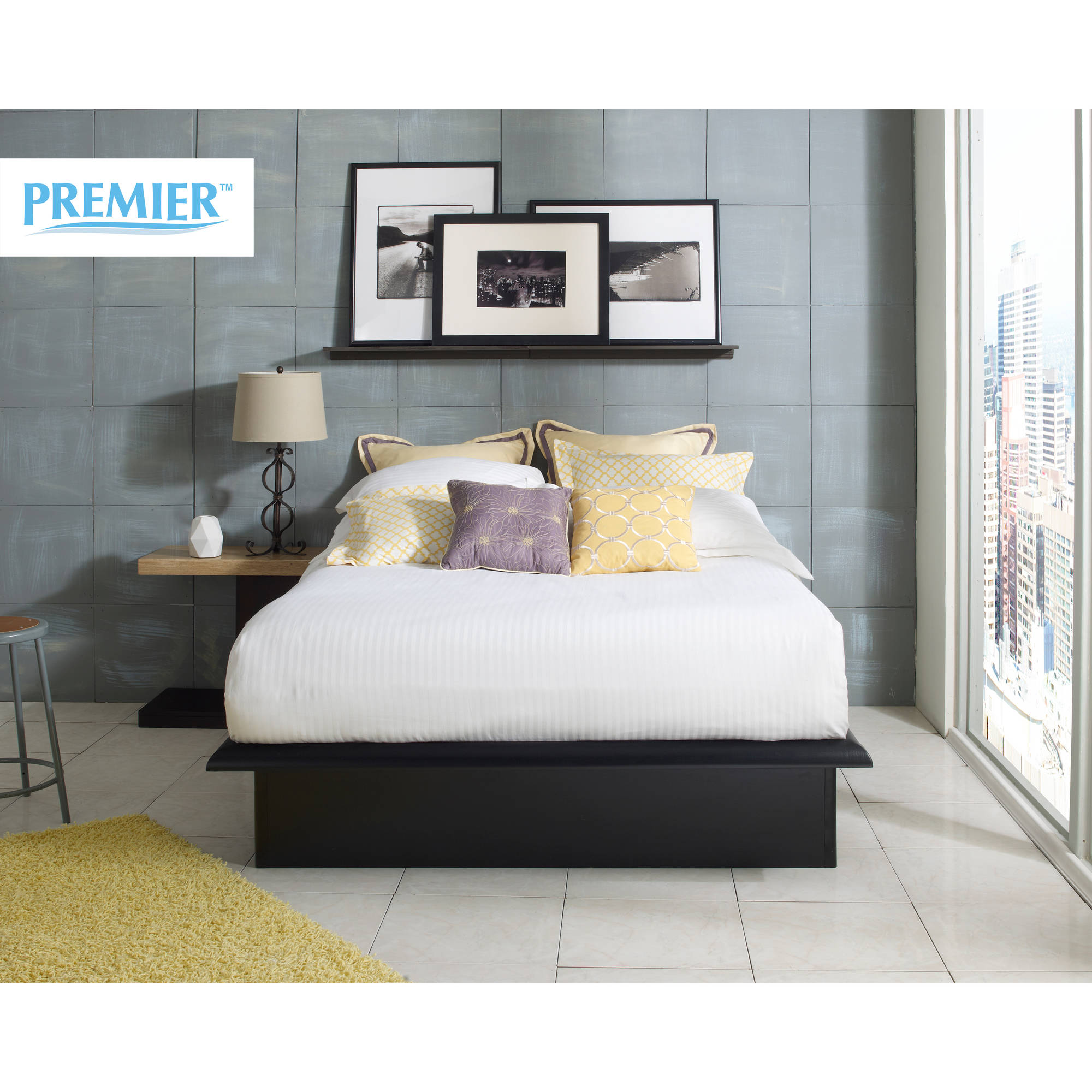 Premier Austin Metal Platform Base Bed Frame, Multiple Sizes