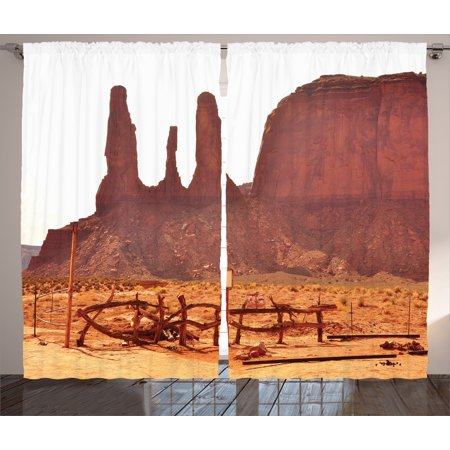 Monument Valley Halloween (House Decor Curtains 2 Panels Set, Scenic Archaic Monument Valley on Western Desert Odd Formation of Rock and Cliff Print, Window Drapes for Living Room Bedroom, 108W X 84L Inches,)
