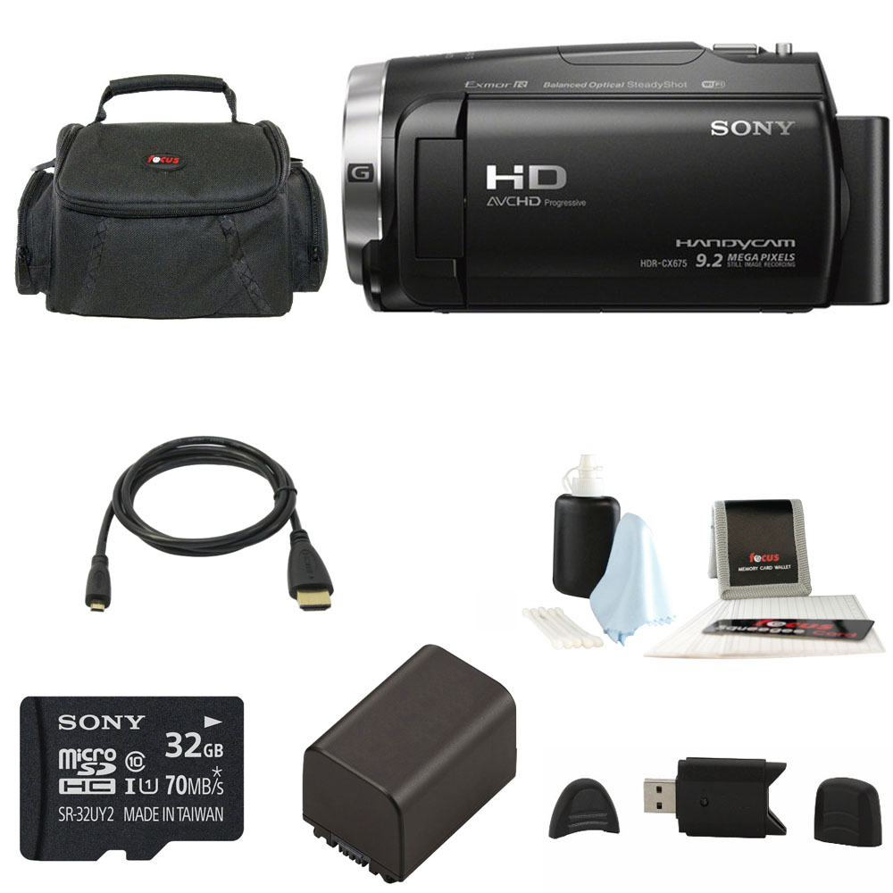 Sony HDR-CX675 Handycam Full HD 1080p Camcorder w/ Lithiu...