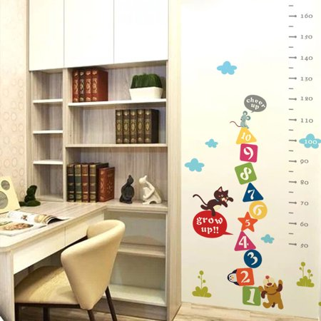 (Grow Up Children Height Growth Chart Measure Wall Sticker Number Decal Decor)