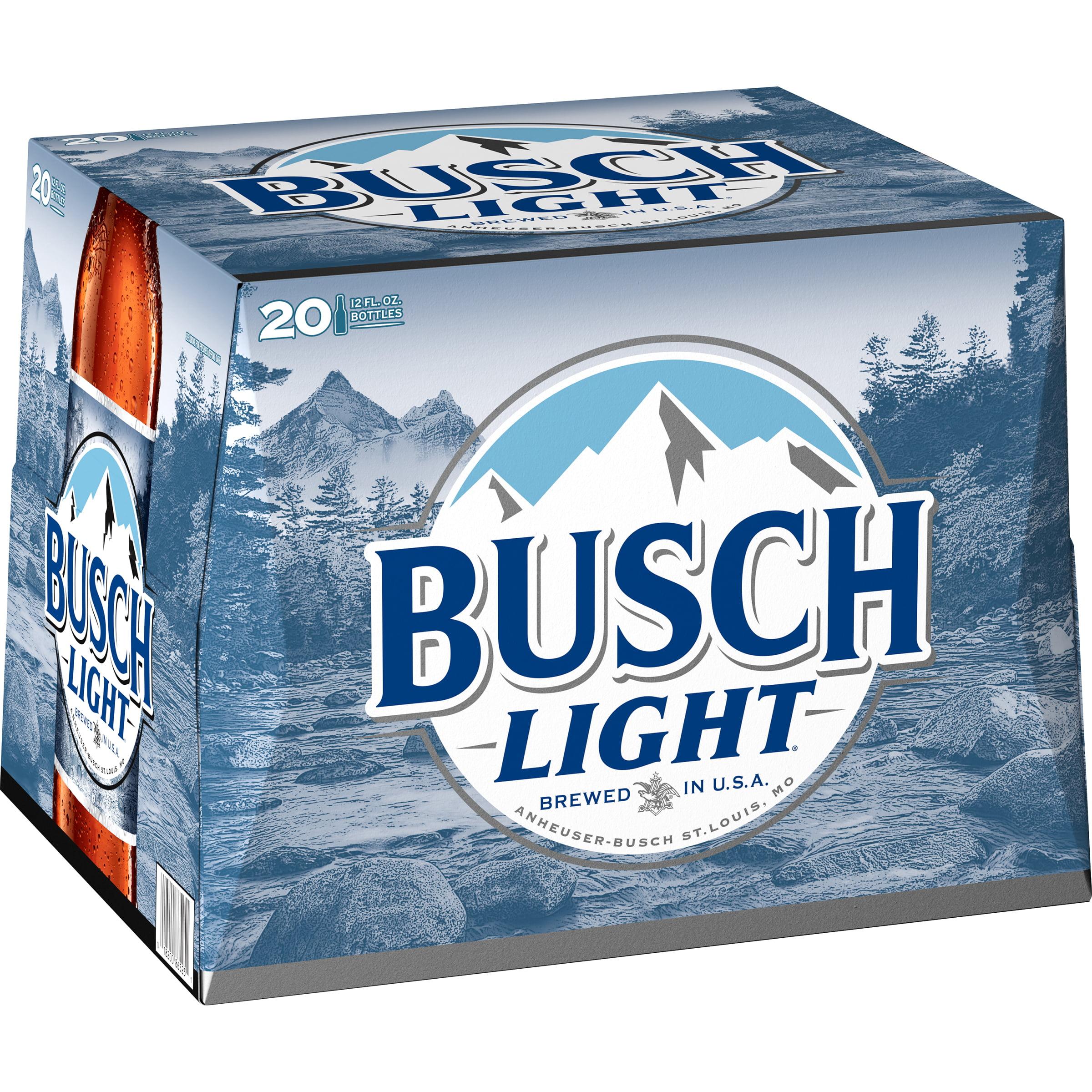 Busch Light Beer 20 Pack 12 Fl Oz Bottles 4 1 Abv Walmart Com Walmart Com