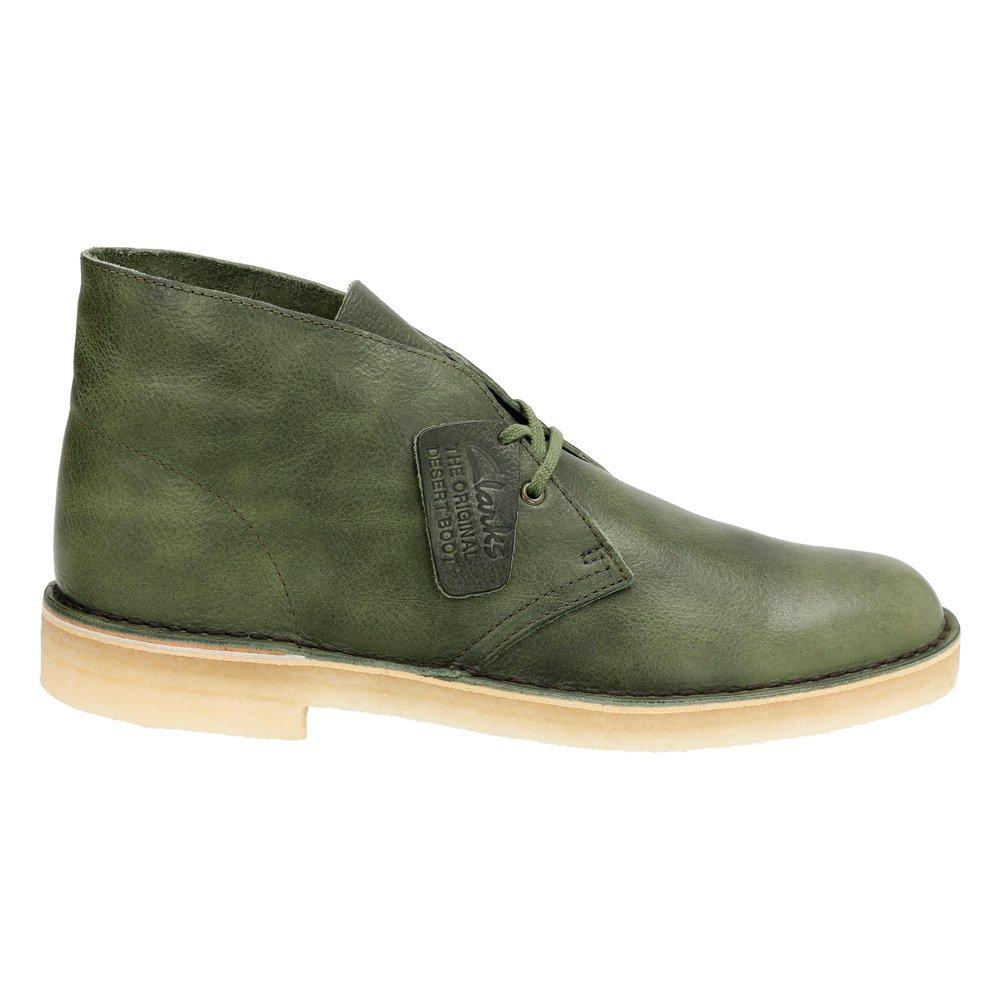 CLARKS ORIGINALS Desert Men/'s Green Leather Chukka Boots 26115534