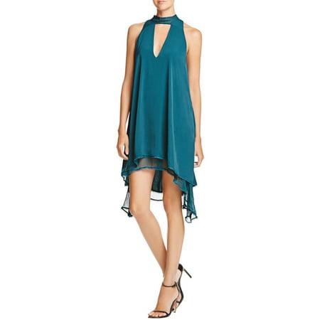 The Jetset Diaries Womens Imperial Halter Sleeveless Mini Dress