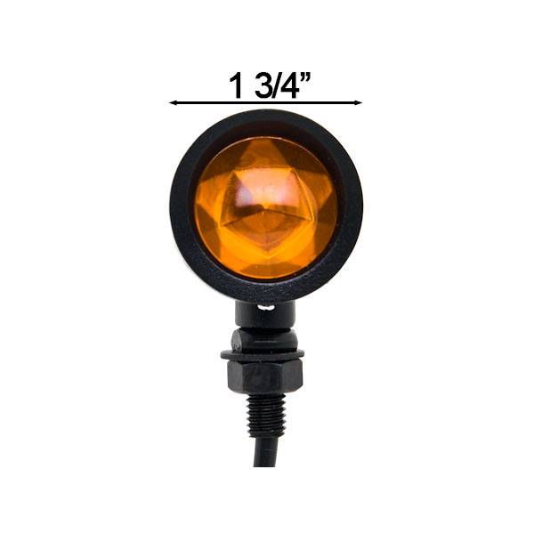 Motorcycle 2 pcs Black Amber Turn Signals Lights For Yamaha TMax C3 CA CV50 80 400 500 - image 2 of 6