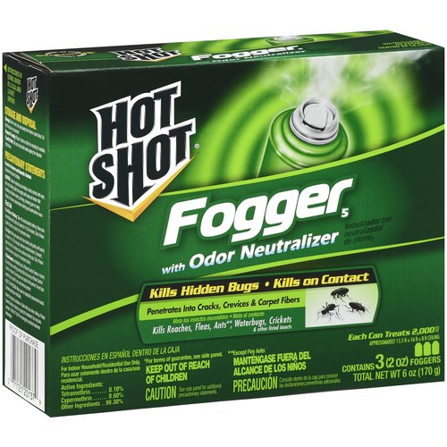 Hot Shot Foggers With Odor Neutralizer Insecticide, 3 ct