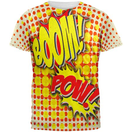 Halloween Boom Pow Vintage Comic Book Costume All Over Mens T - Vintage Halloween Ideas