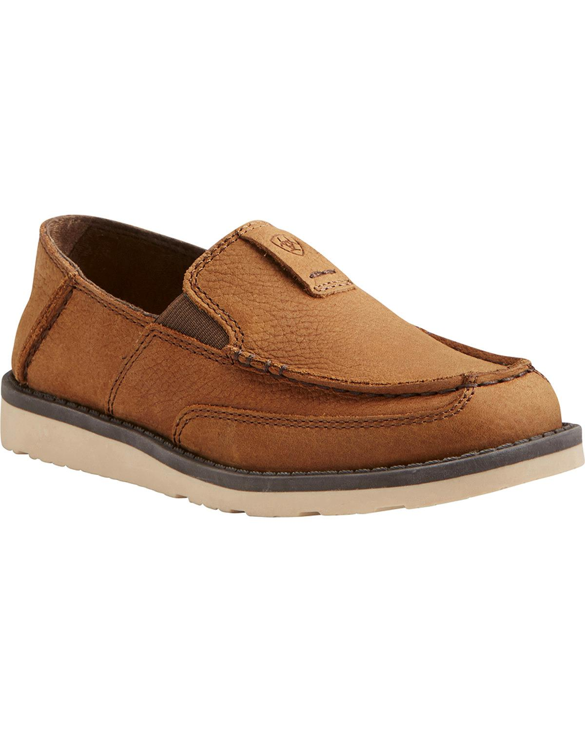 Ariat Boys' Slip On Cruiser Shoes Moc Toe 10021606 by Ariat