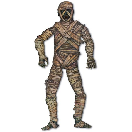 Halloween Jointed Creepy Scary Mummy Figurine Prop Decoration 3' 5