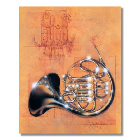 - French Horn Music School Kids Wall Picture Art Print