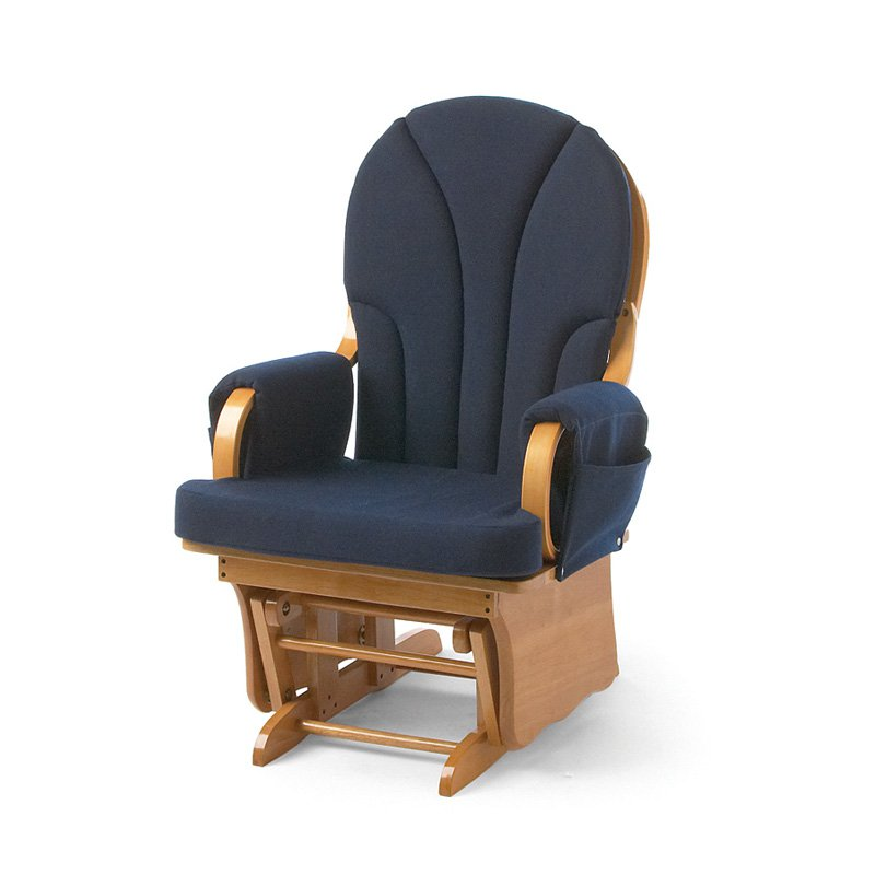 Foundations Lullaby Glider Rocker - Natural/Blue