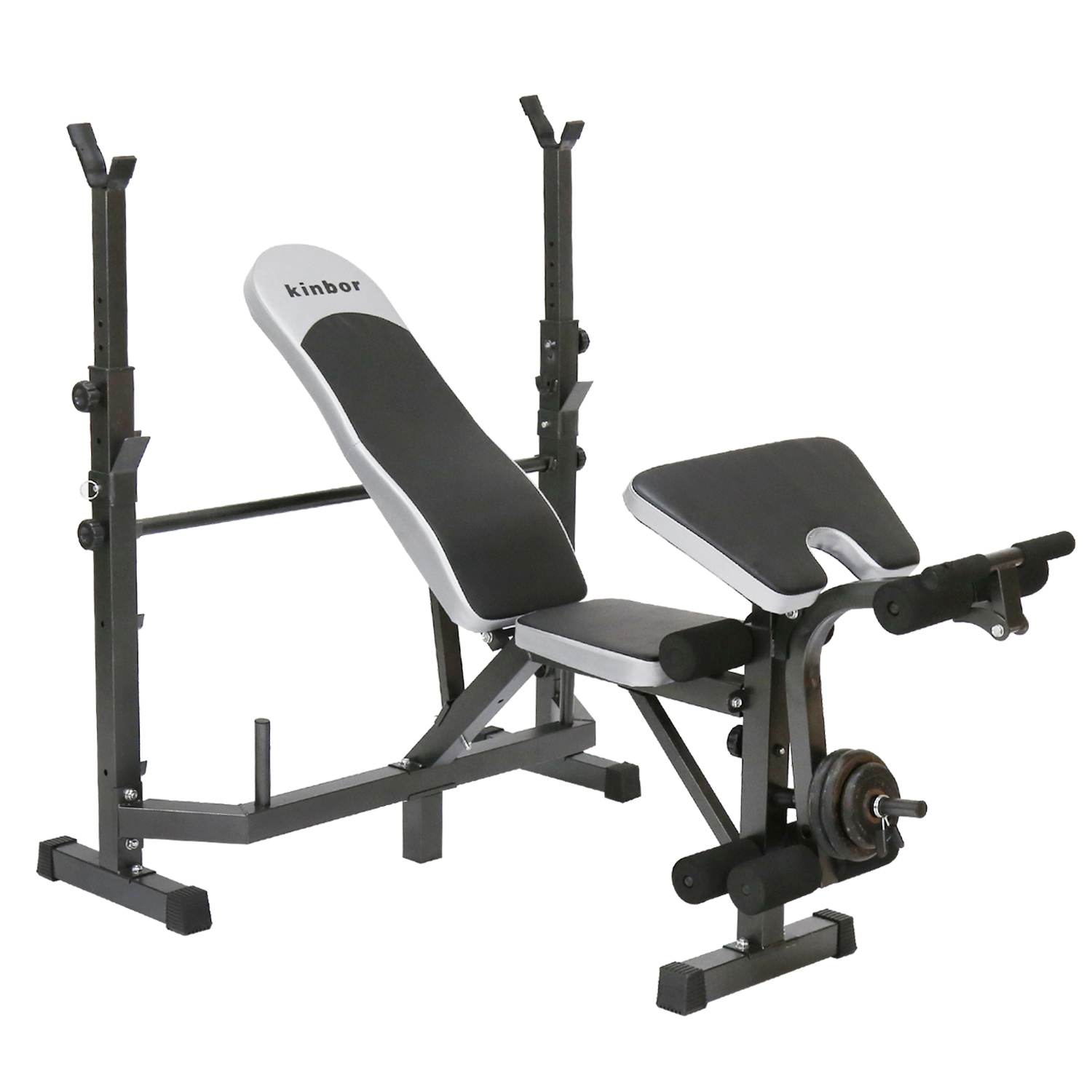 Kinbor Multi-station Weight Bench Adjustable Workout Bench with Leg Extension Incline Flat Decline Sit Up Fitness... by