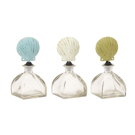 Incredible Glass Metal Stopper Bottle 3 Assorted