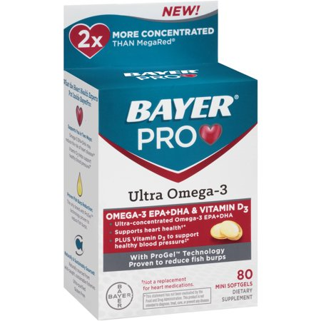 Bayer pro ultra omega 3 dietary supplement 80 ct for Pro omega fish oil