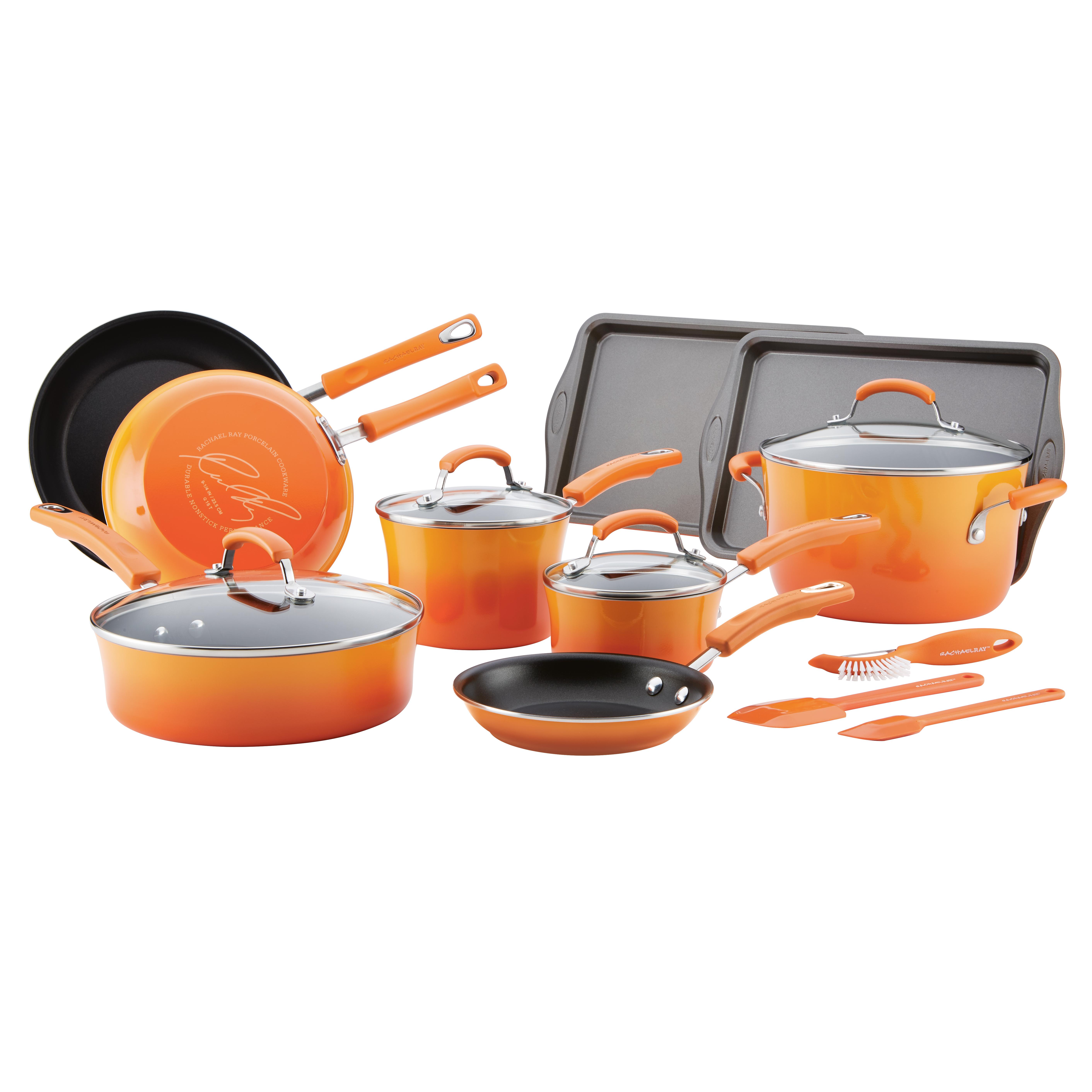 Rachael Ray 16-Piece Cookware.