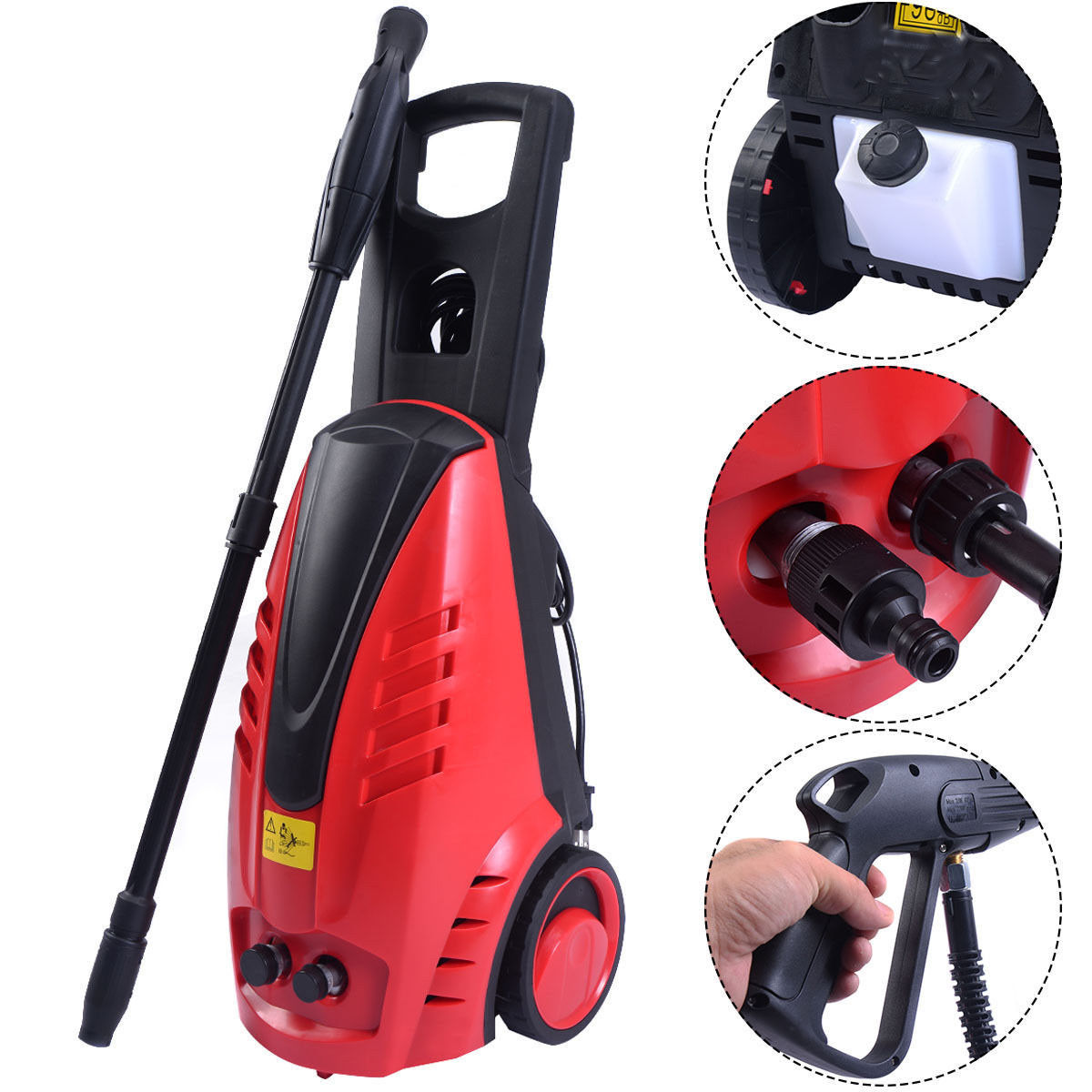 Ktaxon Portable Commercial 1800w Power 1850 PSI Electric High Pressure Jet Washer, Industrial Cleaner Sprayer