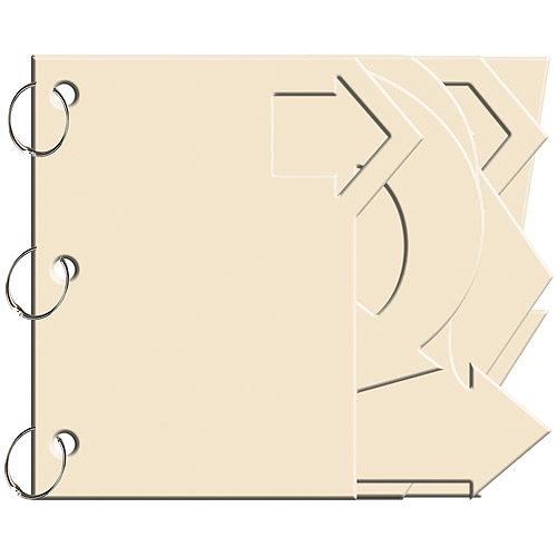 Bo Bunny Chiffon Arrow Mini Edgy Chipboard Album