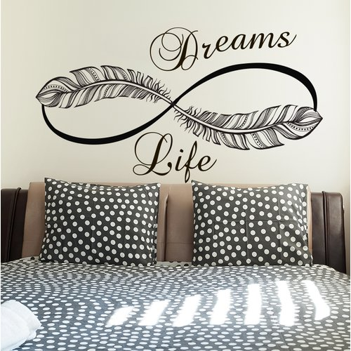 Bungalow Rose Donnie Infinity Life Dreams Wall Decal