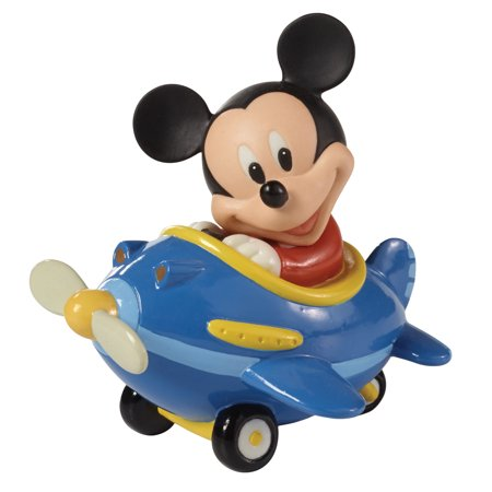 Precious Moments Disney 153701 Let Your Heart Soar Mickey in Plane Figurine