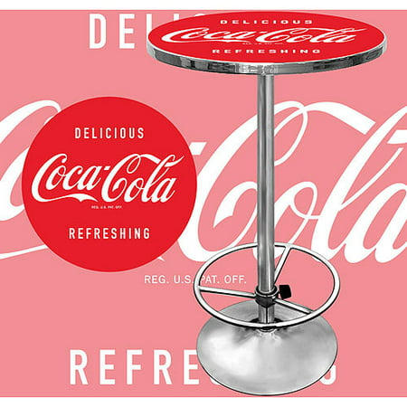 Trademark Coca Cola Pub Table And 2 Stools With Back Set