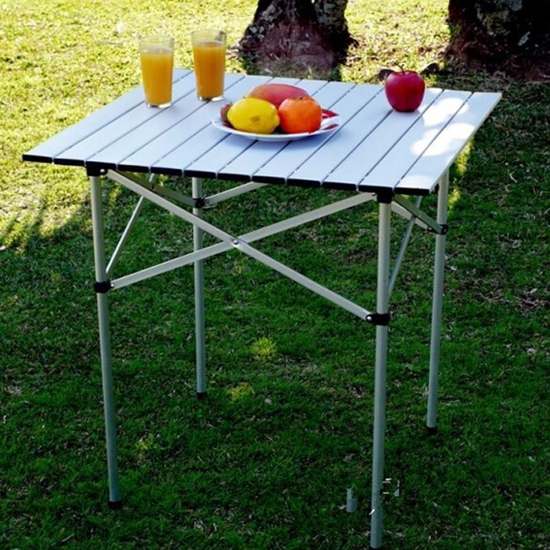 Hifashion Folding Table Aluminum Alloy Roll Up Picnic Camp Tables Outdoor HFON by