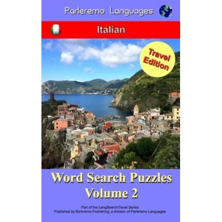 Parleremo Languages Word Search Puzzles Travel Edition Italian   Volume 2