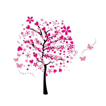7165 Floral Flower Tree Pattern Wallpaper Removable Wall Stickers ...