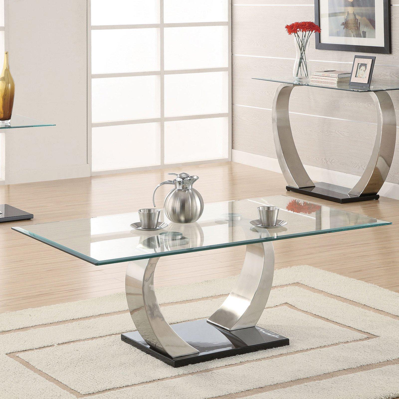 Coaster Furniture Modern Glass Top Coffee Table