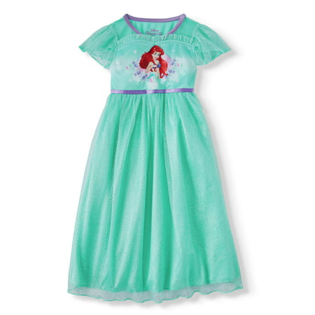 The Little Mermaid Short Sleeve Fantasy Nightgown (Toddler - Princess Night Gown