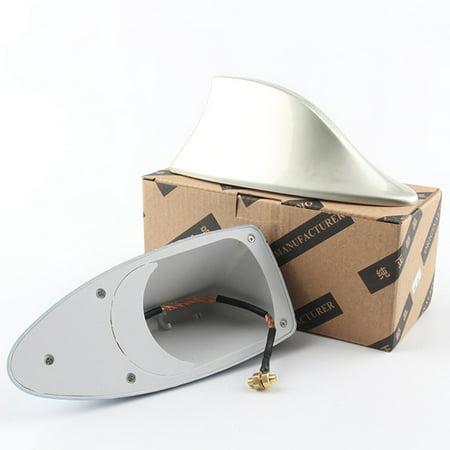Gray Replacement Antenna - SHOPFIVE Universal Shark Fin Roof Car Antenna Radio Fm\/Am Decor Signal Aerial Exterior