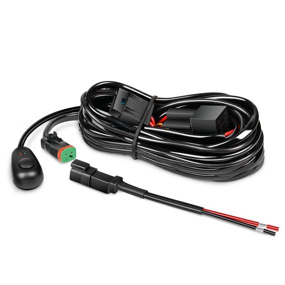 Nilight 16AWG DT Connector Wiring Harness Kit LED Light Bar 12V On Off Switch Power Relay Blade Fuse for Off Road Lights LED Work Light, 2 Years Warranty