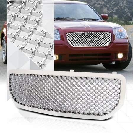 Glossy Chrome ABS 3D Wave Mesh Front Bumper Grille/Grill for 05-08 Dodge Magnum 06 07
