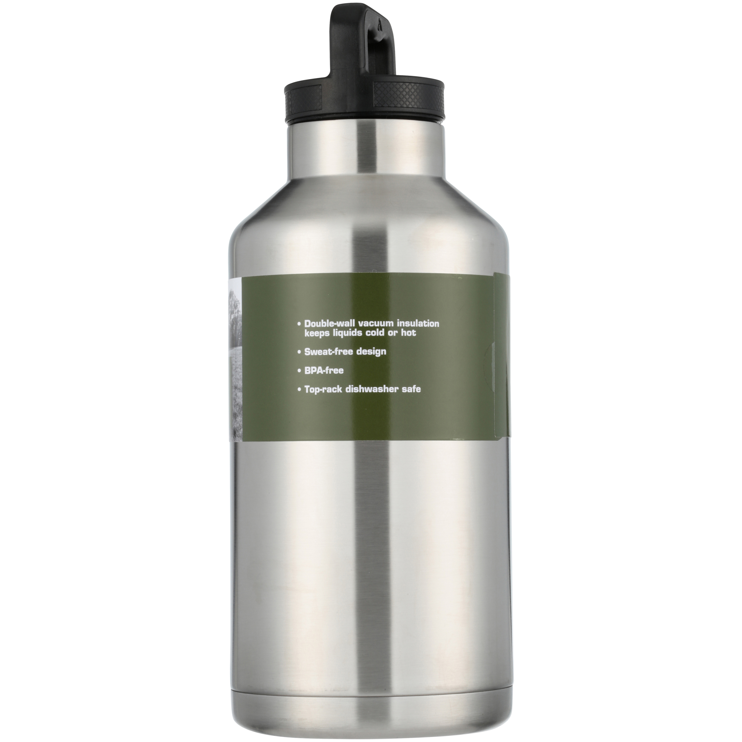 ce8bc2c805 Ozark Trail 64oz Double Wall Stainless Steel Water Bottle - Walmart.com