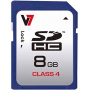 V7 8GB Class 4 SDHC Memory Card