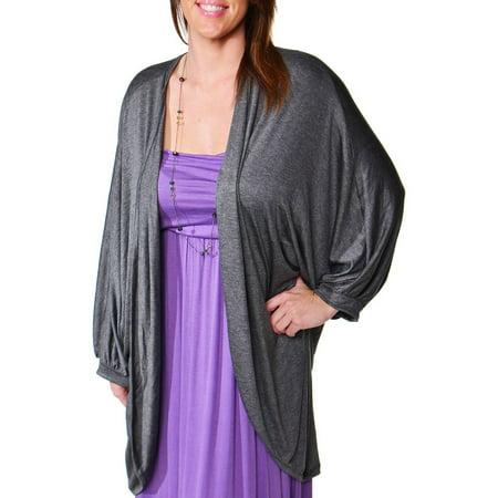 Women's Plus Size Dolman Sleeve Oversized Long -