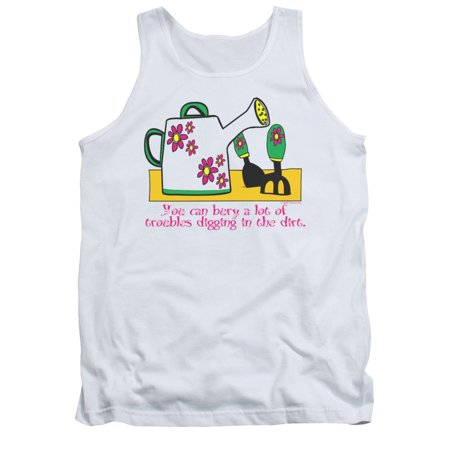 You Can Bury A Lot Of Troubles Funny Adult Tank Top Shirt