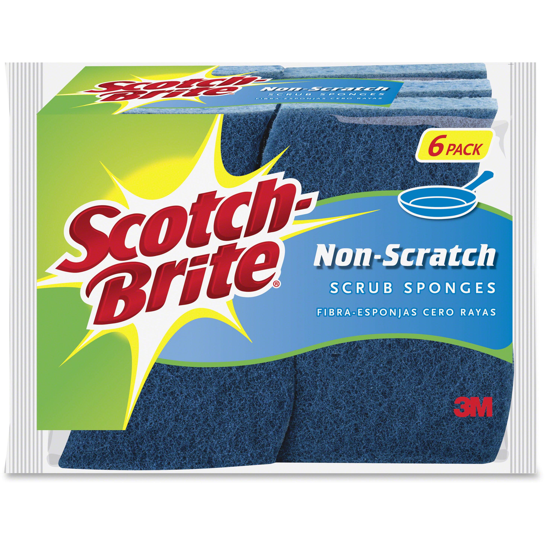 Scotch-Brite Non-Scratch Scrub Sponges, 6 Ct