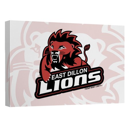 Friday Night Lights East Dillion Lions Canvas Wall Art With Back
