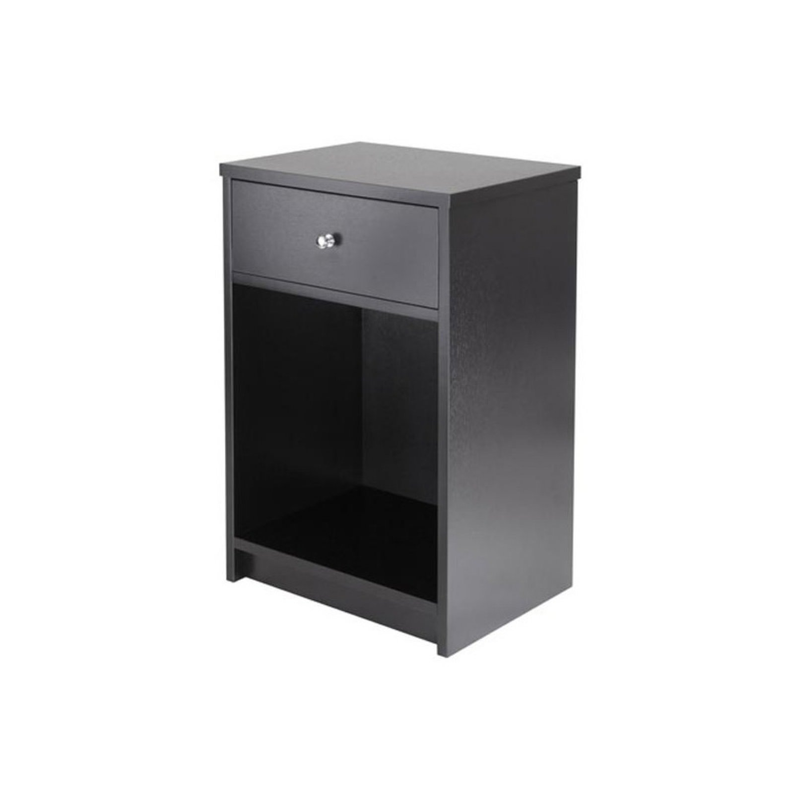 Winsome Wood Squamish Nightstand Black Finish Walmart Com Walmart Com