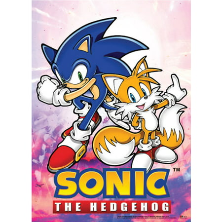 Sonic The Hedgehog And Tails (Wall Scroll - Sonic the Hedgehog - New Sonic+Tails Fabric Poster Licensed)