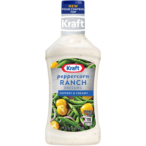 Kraft Salad Dressing: Dressing & Dip Peppercorn Ranch, 16 Fl Oz