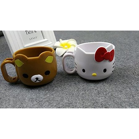Cute Bear Die-Cut Mug San-x Rilakkuma Mug Cup Rilakkuma, Material: Plastic (ABS) By WEICO DIRECT (Cute Cups)