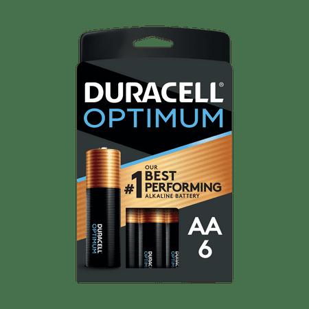 Duracell Optimum AA Alkaline Battery (6-Pack)