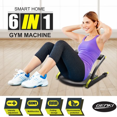 Genki 6 In 1 Ab Body Exercise System Core Workout Abdominal Training Six Pack Fitness Machine For Home Gym