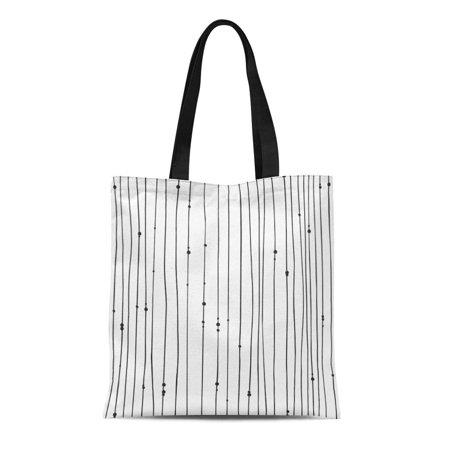 NUDECOR Canvas Tote Bag Gipsy Bead Black Contour Creative Ink Work Boho Chic Reusable Shoulder Grocery Shopping Bags Handbag - image 1 de 1